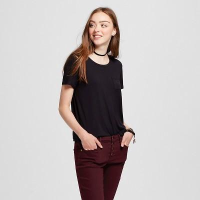 Women's Short Sleeve Softest Crew T-Shirt Black XXL - Mossimo Supply Co.™