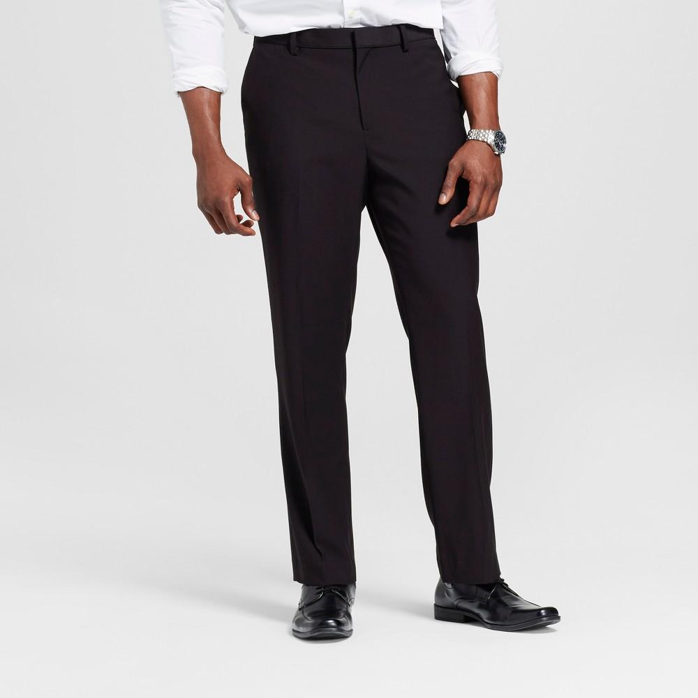 Mens Big & Tall Slim Fit Suit Pants - Merona Black 40x36