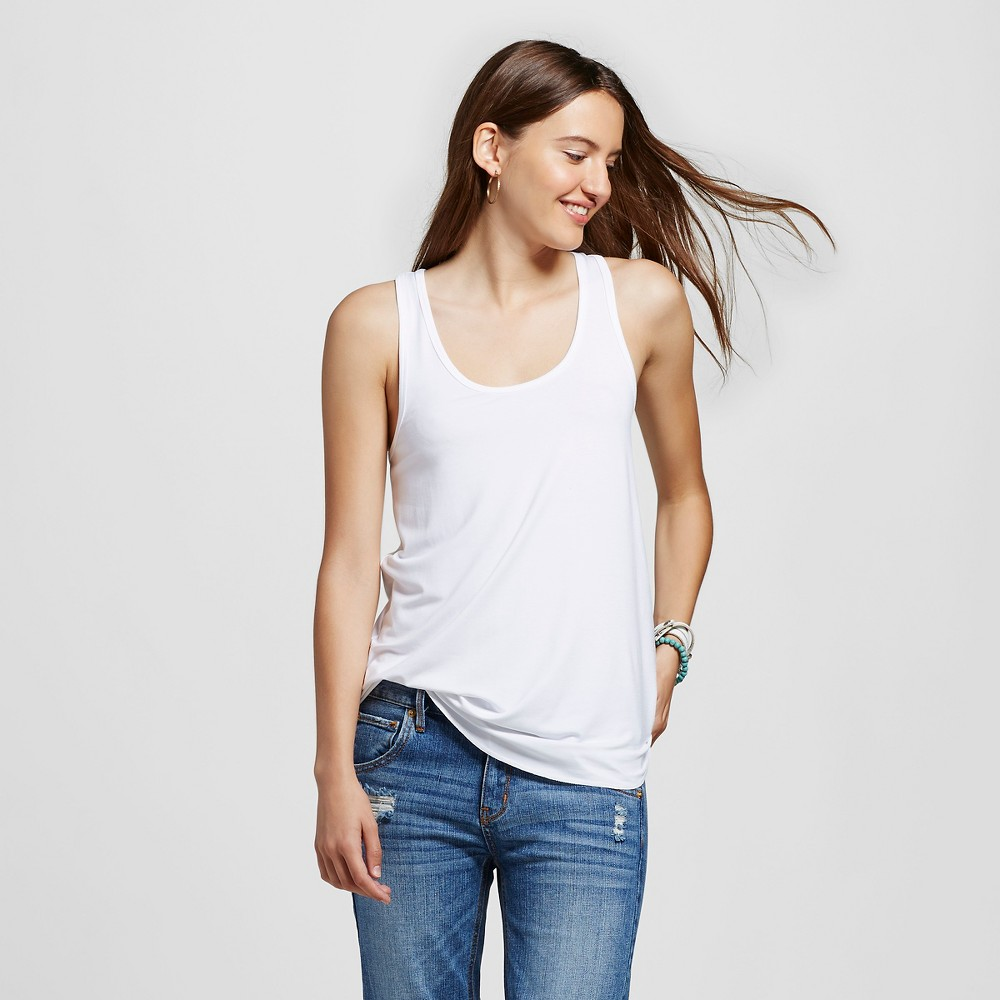 Women's Racerback Tank Top White M - Mossimo Supply Co.