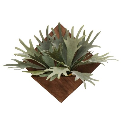 Wood and Plant Wall Décor - Large - Threshold™