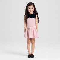 Toddler Girls' Blush Drop Waist Scallop Trim Dress - Victoria Beckham for Target. opens in a new tab.