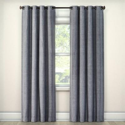 Rowland Light Blocking Curtain Panel Light Gray (52 x63 )- Eclipse™