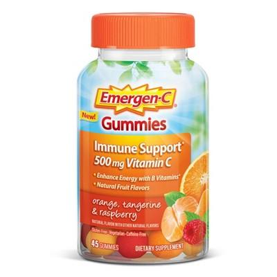 Emergen-C Core Dietary Supplement Gummies - Orange Tangerine & Raspberry - 45ct