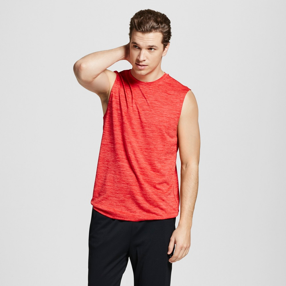 Mens Sleeveless Tech T-Shirt - C9 Champion Scarlet Heather XL