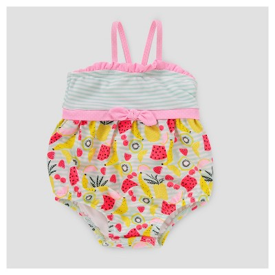 Baby Girls' Fruit Print One Piece Swimsuit Cat & Jack™ - Aqua 3-6M