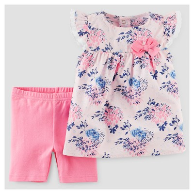 Baby Girls' 2pc Set - Just One You™ Made by Carter's® Pink/Blue 6M