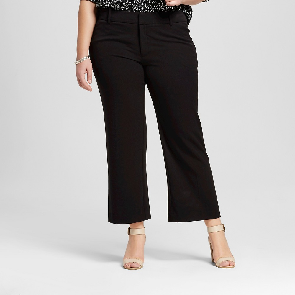 Womens Plus Size Cropped Flare - Ava & Viv Navy (Blue) 24W