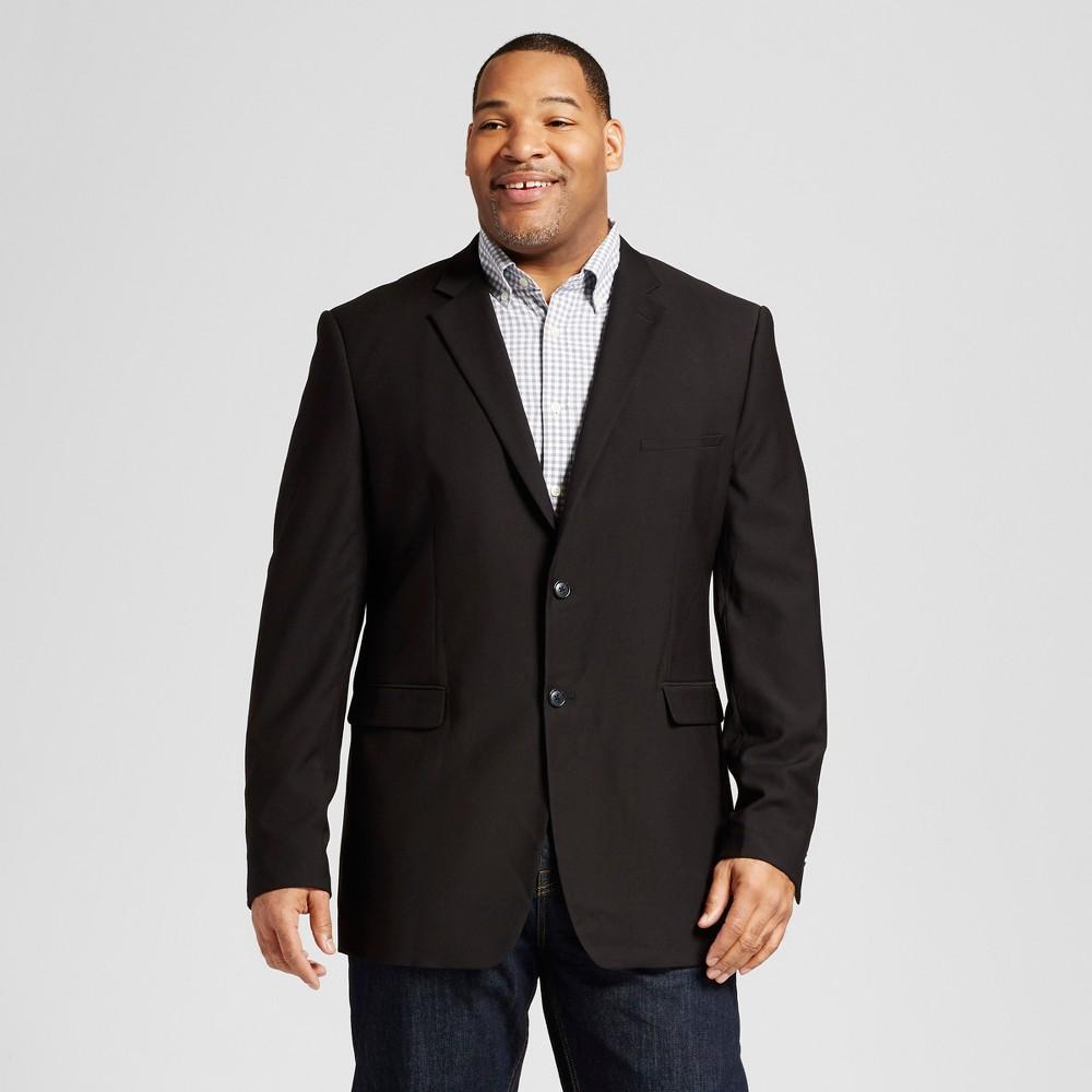 Mens Big & Tall Classic Fit Suit Coat - Merona Black Xlt