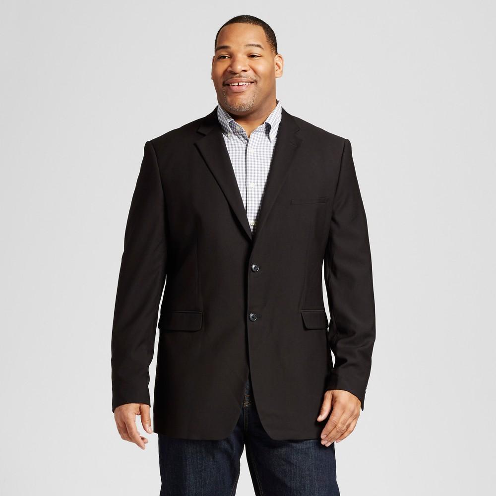Mens Big & Tall Classic Fit Suit Coat - Merona Black 4XB Tall, Size: 4XBT