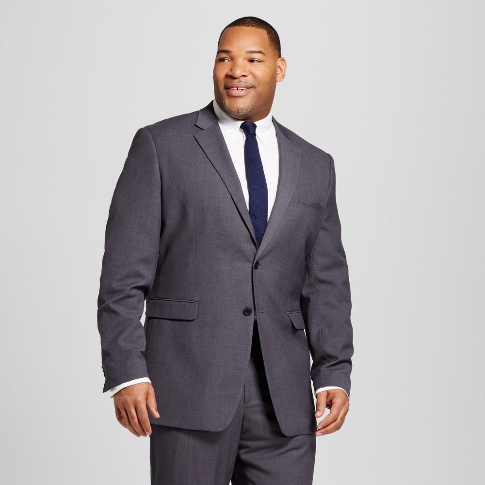 Mens Big & Tall Classic Fit Suit Coat - Merona Gray 5XB
