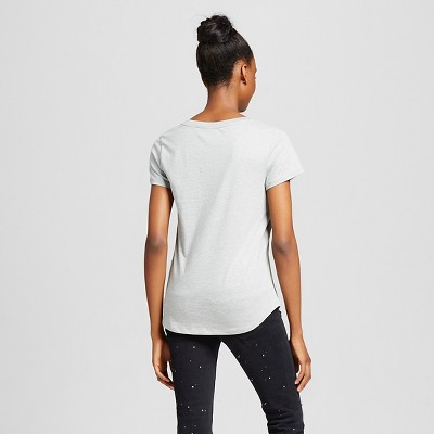 Women's Short Sleeve Relaxed V-Neck Tee Charcoal (Grey) XS - Mossimo Supply Co.