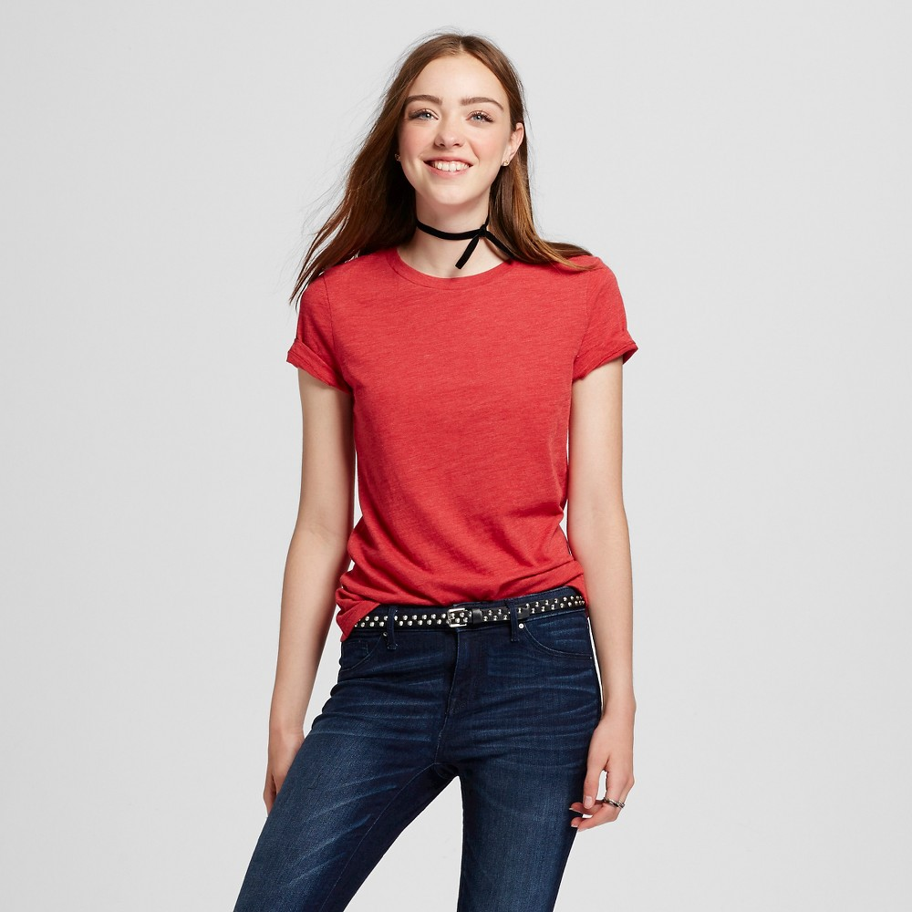 Womens Short Sleeve Essential Crew T-Shirt Red L - Mossimo Supply Co.