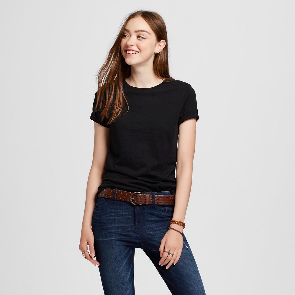 Womens Short Sleeve Essential Crew T-Shirt Black XL - Mossimo Supply Co.