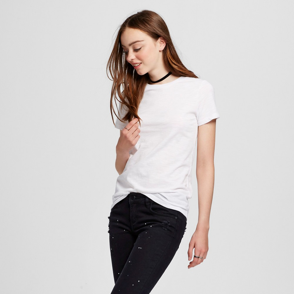 Womens Short Sleeve Essential Crew T-Shirt White XS - Mossimo Supply Co.