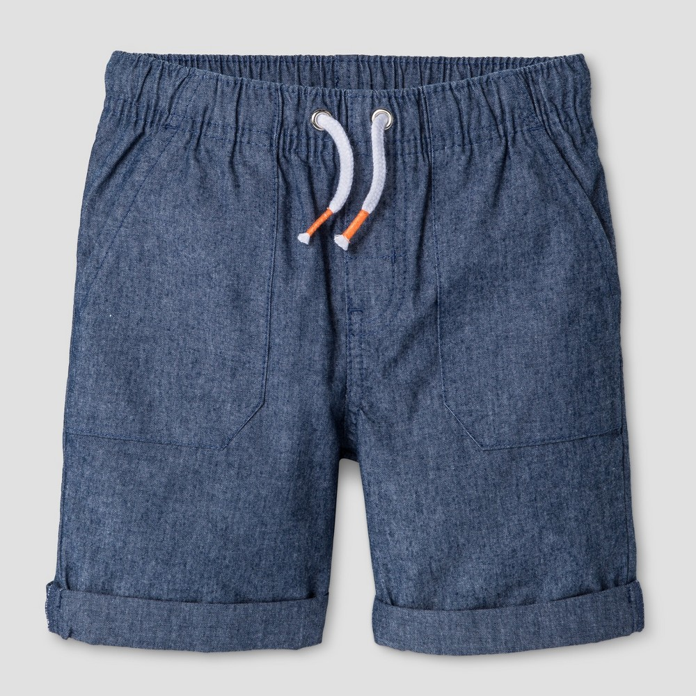 Toddler Boys Pull-On Shorts Cat & Jack Blue Chambray 4T
