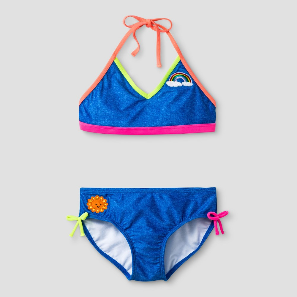 Girls Bikini With Patches - Cat & Jack Blue M