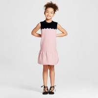 Girls' Blush Drop Waist Scallop Trim Dress - Victoria Beckham for Target. opens in a new tab.