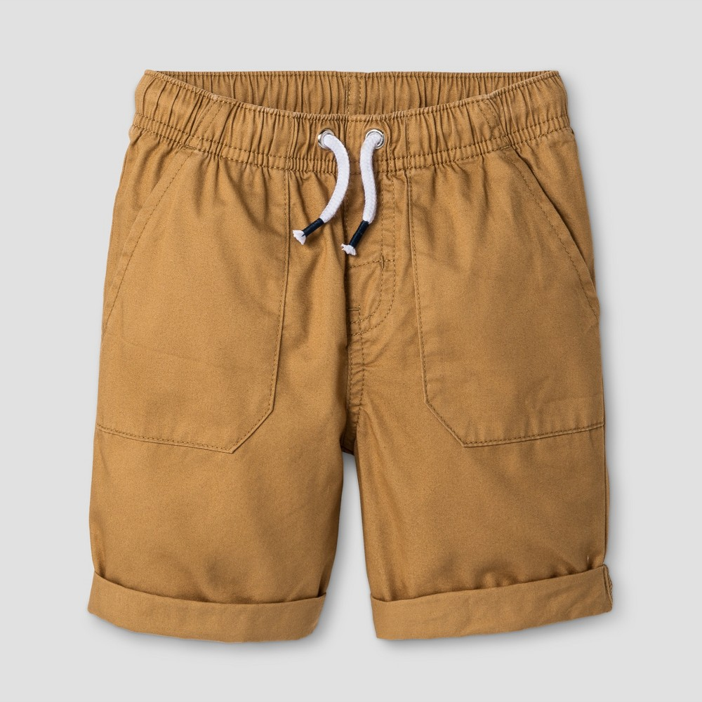 Toddler Boys Pull-On Shorts Cat & Jack Casual Brown 2T, Orange
