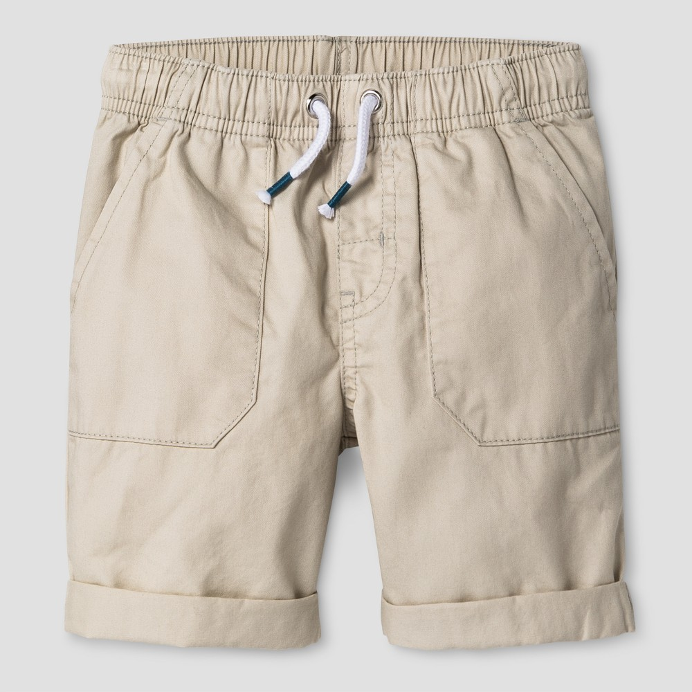Toddler Boys Pull-On Shorts Cat & Jack Oyster 3T, White