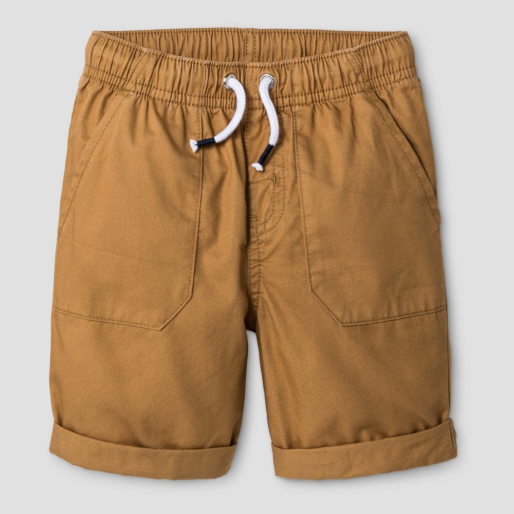 Baby Boys Pull-On Shorts Cat & Jack Casual Brown 18M, Size: 18 M, Orange