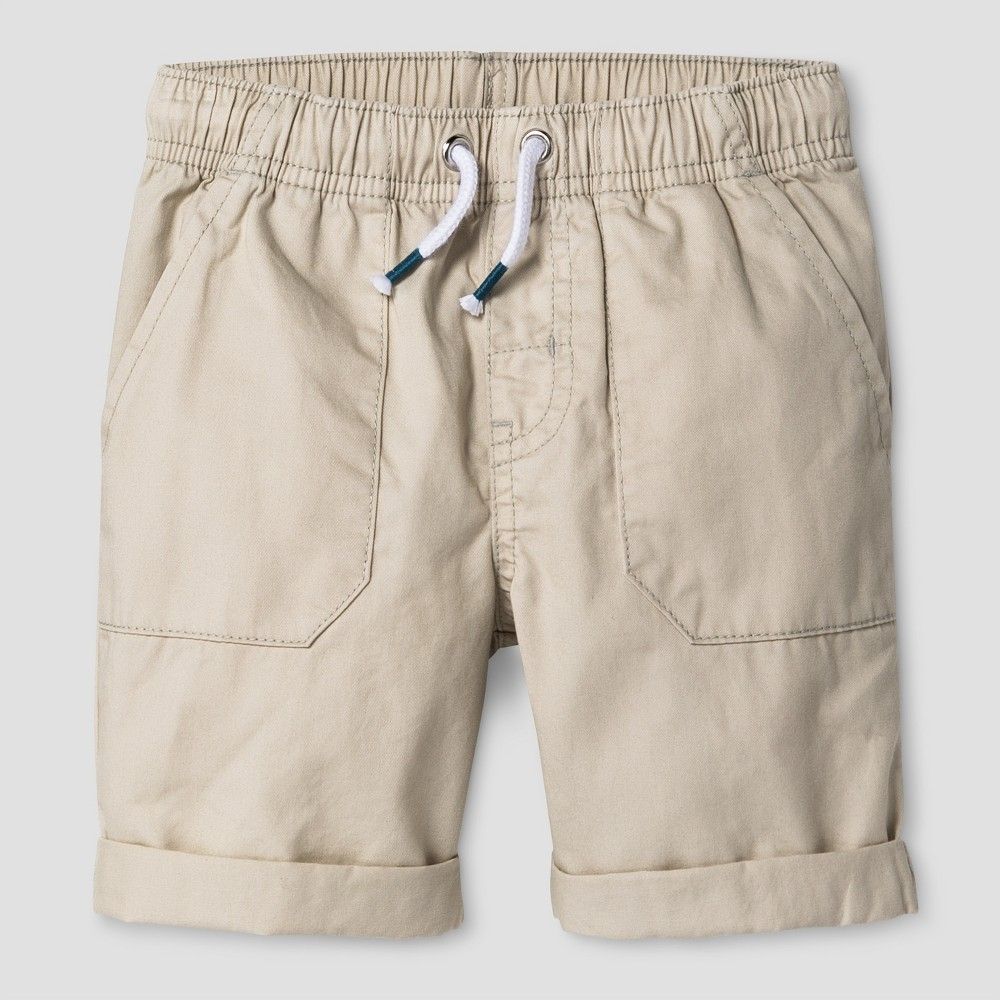 Baby Boys Pull-On Shorts Cat & Jack Oyster 18M, Size: 18 M, White