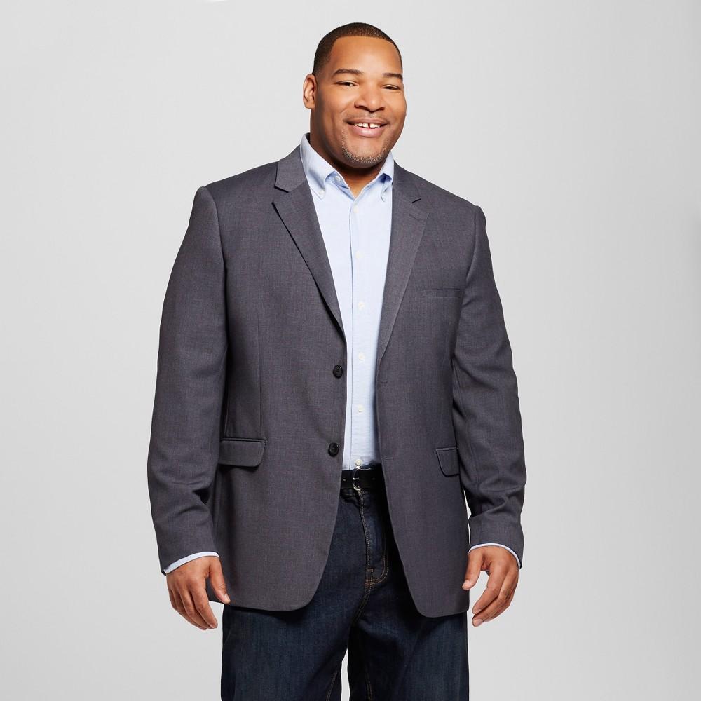 Mens Big & Tall Slim Fit Suit Coat - Merona Gray LT