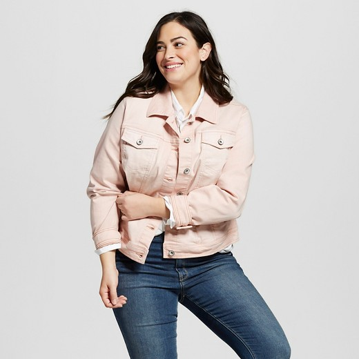 Women's Plus Size Denim Jacket - Merona™ : Target