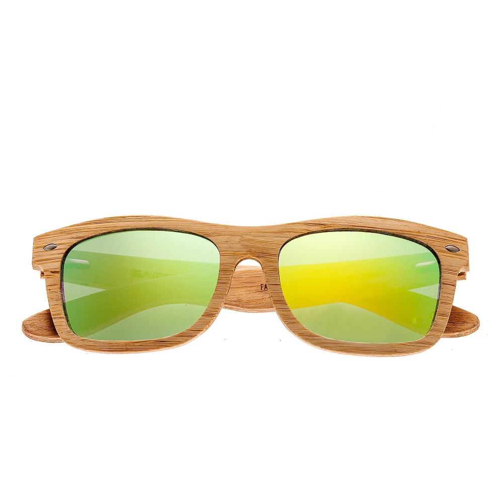 Earth Wood Maya Polarized Sunglasses - Bamboo/Yellow, Mens, Tan