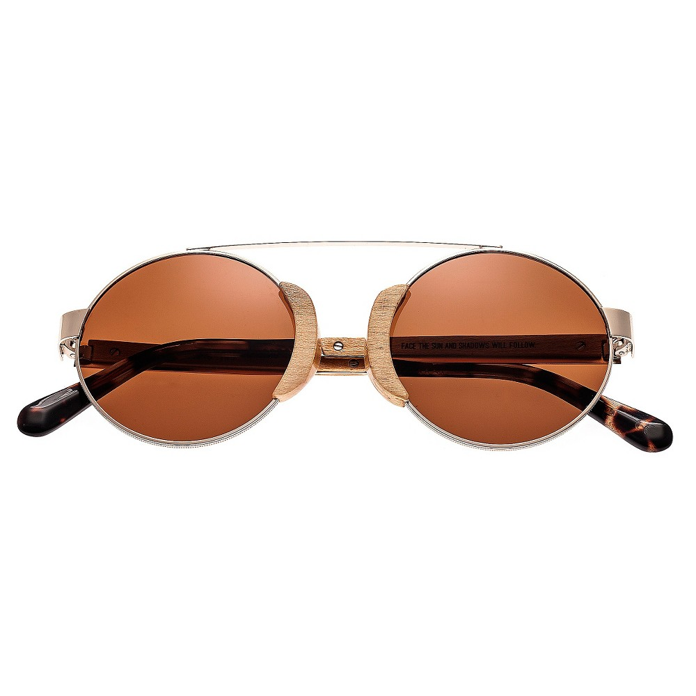 Earth Wood Talisay Polarized Sunglasses - Gold & Maple/Brown, Adult Unisex