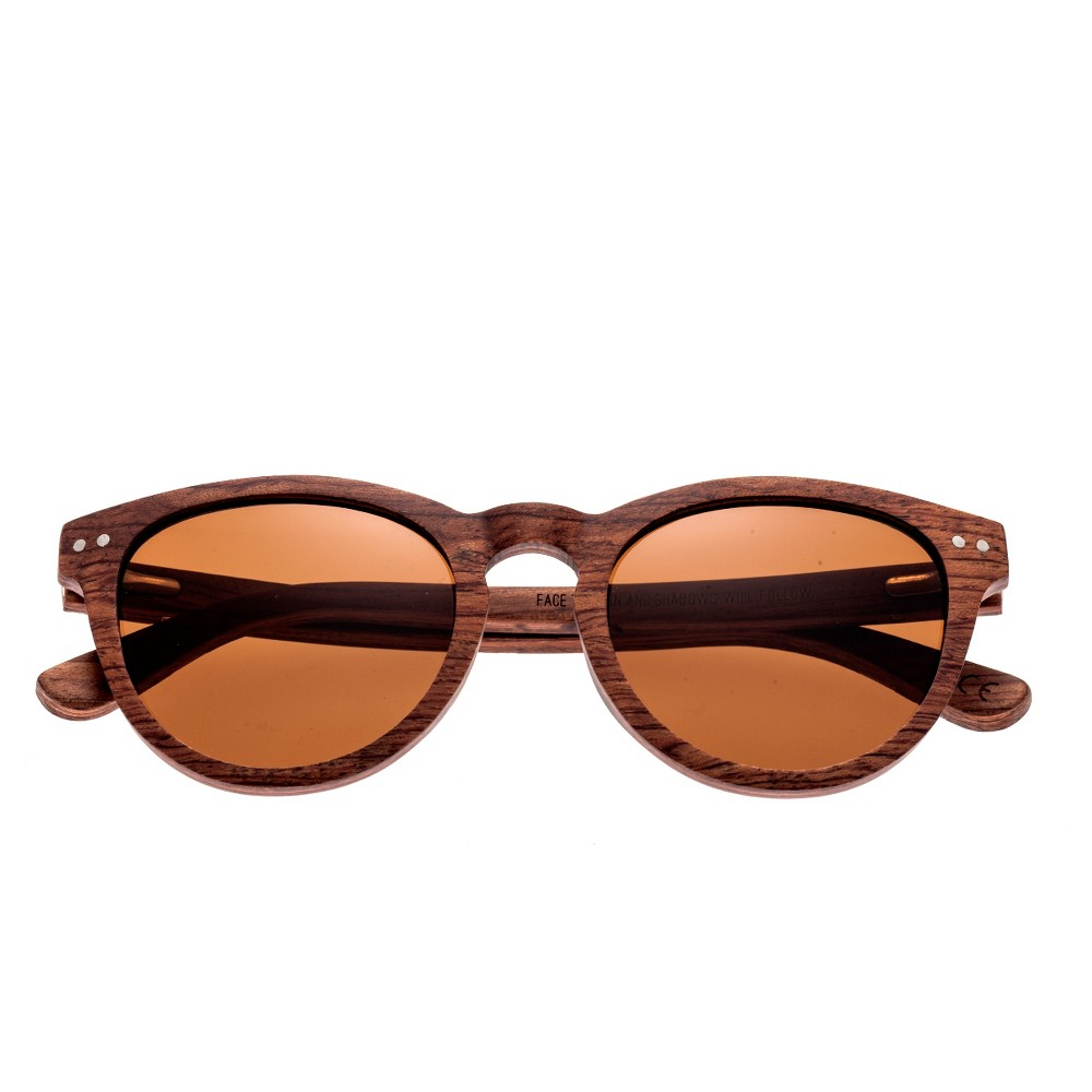 Earth Wood Copacabana Polarized Sunglasses - Red Rosewood/Brown, Womens, Red Oak
