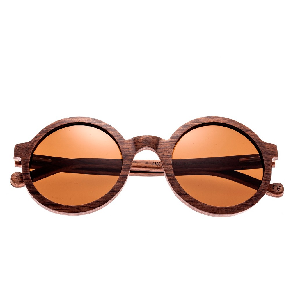 Earth Wood Canary Polarized Sunglasses - Red Rosewood/Brown, Womens, Red Oak