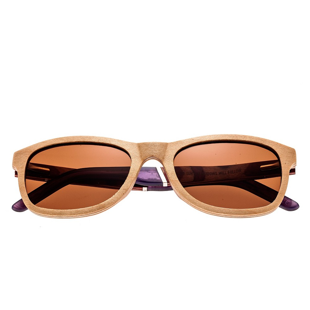 Earth Wood El Nido Polarized Sunglasses - Birch/Brown, Womens, Peachwood