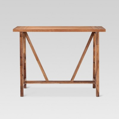 wheaton trestle base console table threshold