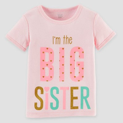 Toddler Girls' Big Sister T-Shirt - Just One You™ Made by Carter's® Pink 3T