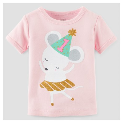 Baby Girls' 1st Birthday T-Shirt - Just One You™ Made by Carter's® Pink 18M