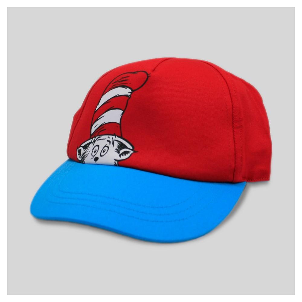 Baby Dr. Seuss Baseball Hat - 12-24 M - Genuine Kids from OshKosh- Red, Infant Boys, Size: 12-24M, Blue Red