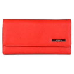 Kenneth Cole Reaction Women's Faux Leather Solid Trifold Clutch Wallet