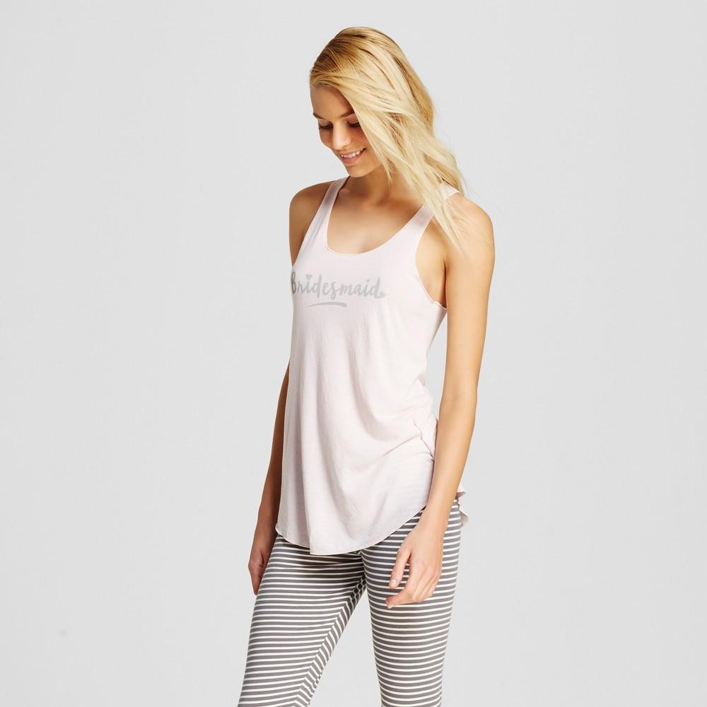 Love and Cherish Women's Bridesmaid Pajama Tank – Pink L