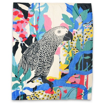 Watercolor Parrot Throw Blanket - Hot Now™