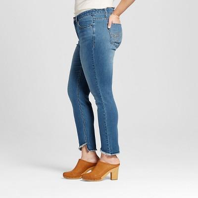 Women's Plus Size Release Hem Skinny Ankle Jean Blue 18W - Earl Jeans