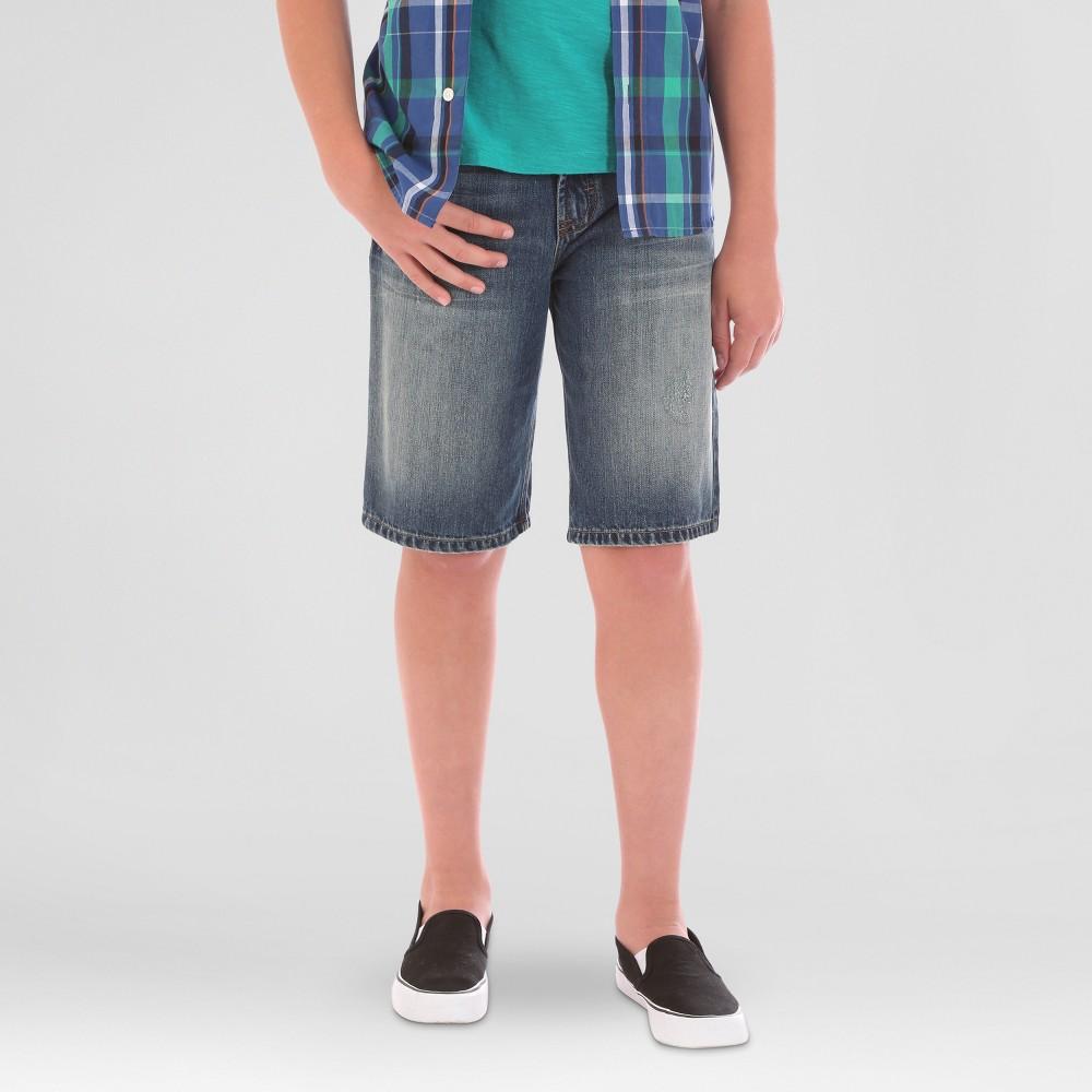 Wrangler Boys Light Wash Denim 5pkt Shorts - Blue 8 Husky