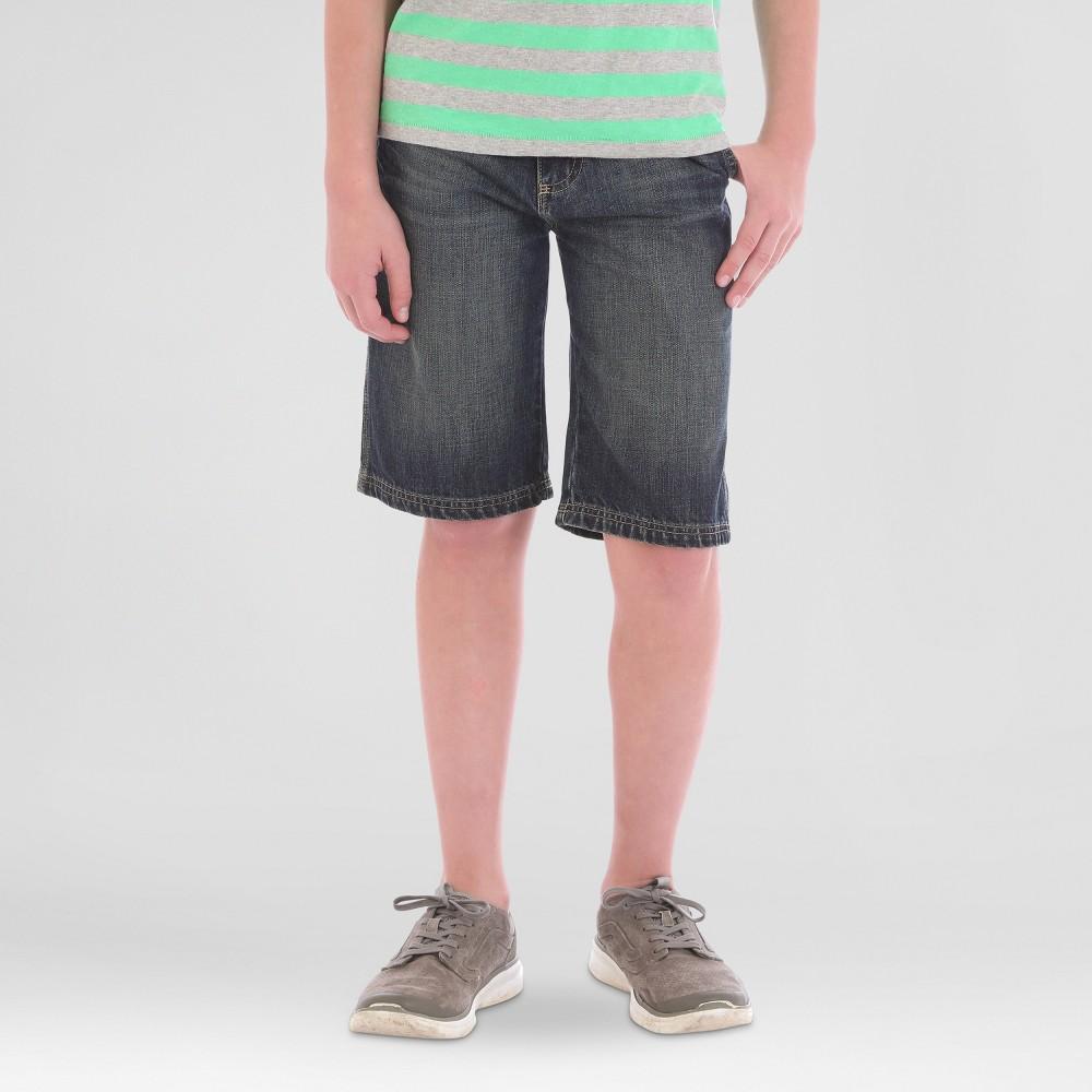 Wrangler Boys Mid Wash Denim Utility Shorts - Blue 8