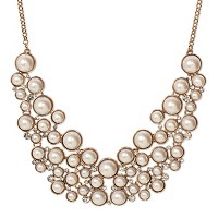 SUGARFIX by BaubleBar Pearl Bib Necklace - Pearl. opens in a new tab.