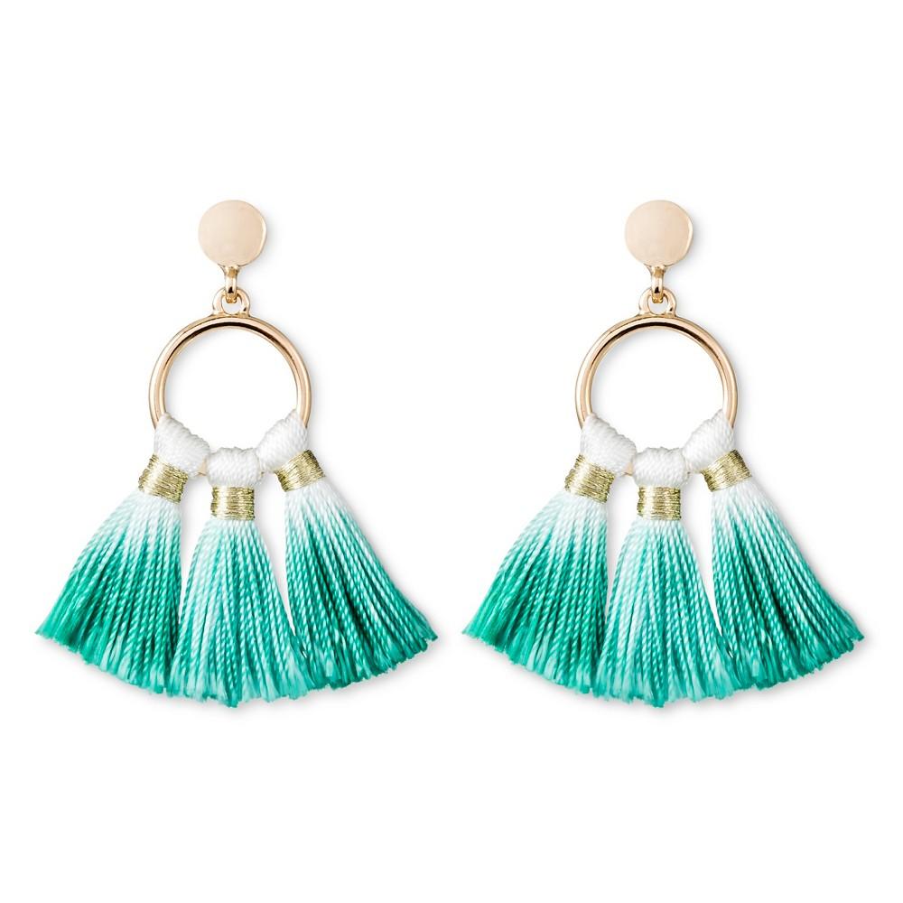 Sugarfix by BaubleBar Ombré Tassel Drop Earrings - Green, Women's