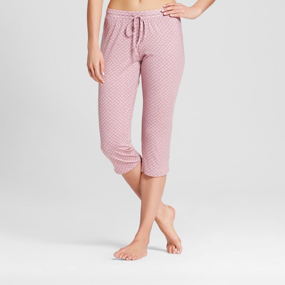 Womens Floral Pajama Pants Purple L