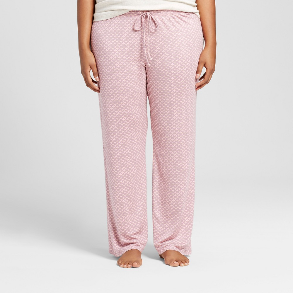 Womens Plus Size Pajama Pants Purple 3X