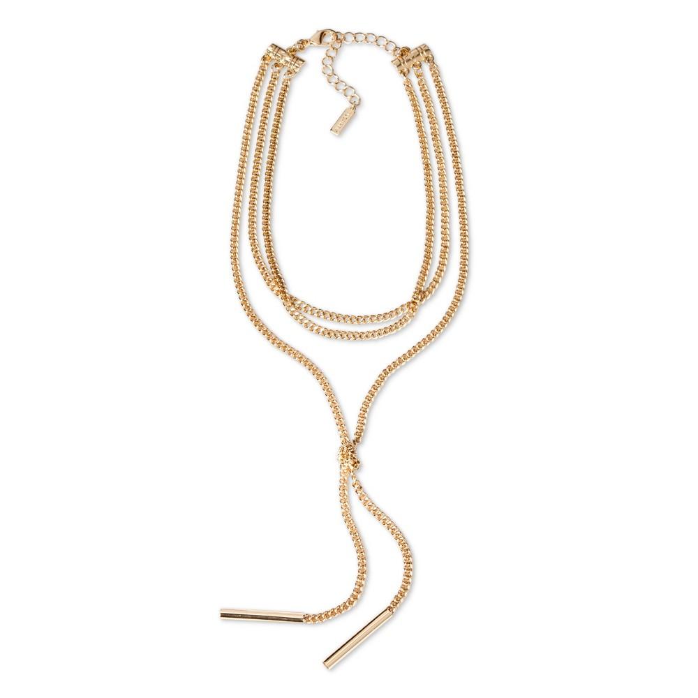 Sugarfix by BaubleBar Layered Choker Necklace - Gold, Womens
