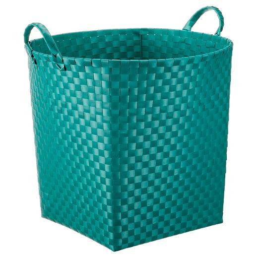 Basket Weaving Supplies Coupon : Round weave decorative basket large green pillowfort