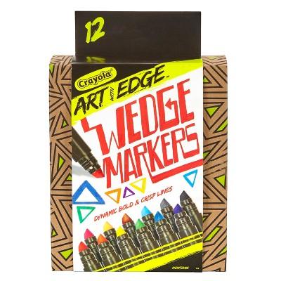 Crayola® Art with Edge™ Wedge Markers 12ct