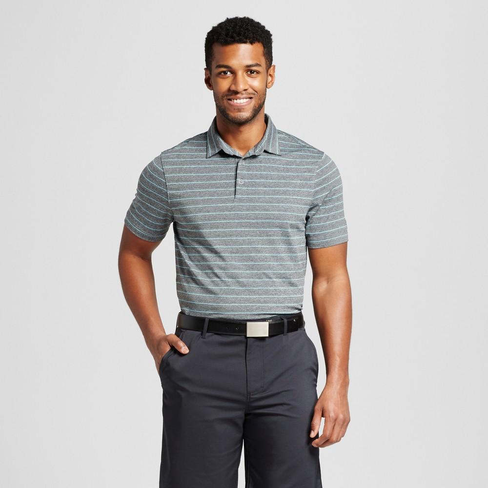 Men's Stripe Golf Polo Shirt – C9 Champion – Charcoal (Grey) Stripe L